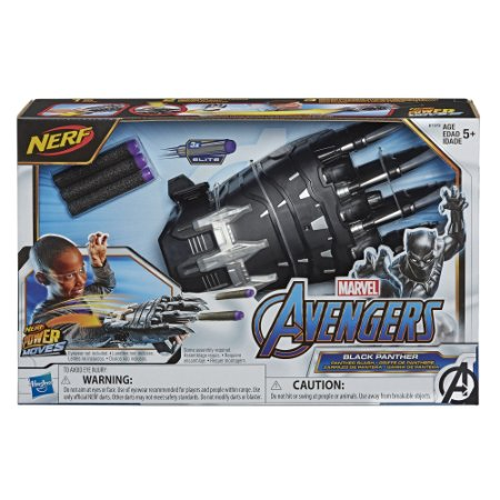 Lançador Nerf Marvel Power Moves Pantera Negra Hasbro E7372
