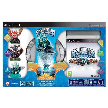 Box com Jogo e Figuras Skylanders Spyros Adventure para Ps3