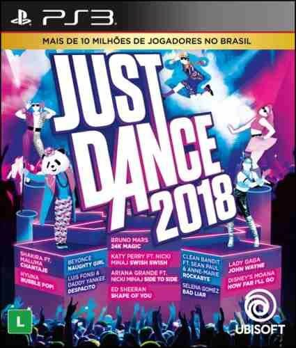 Jogo Mídia Física Just Dance 2018 Para Playstation 3 Ps3