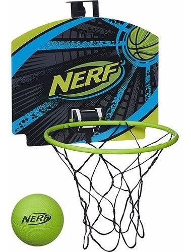 Novo Conjunto Cesta Basquete Nerf Sports Energy Verde A0367