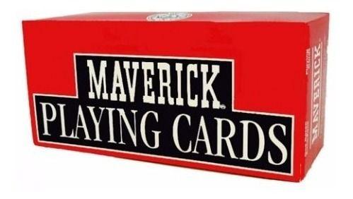 Caixa Com 12 Baralho Maverick Poker Size Papel Plastificado