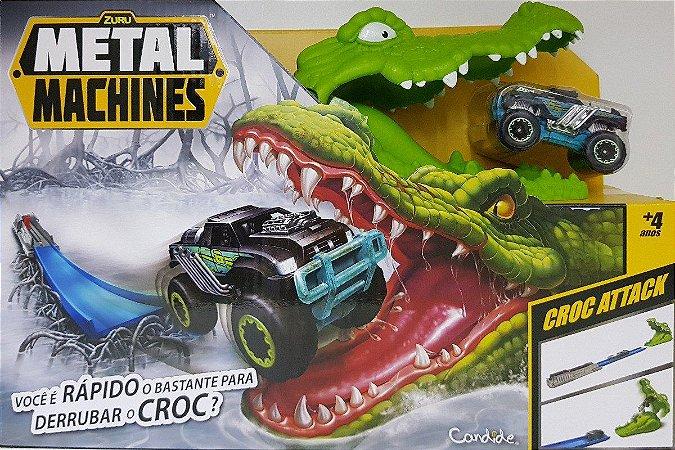 Brinquedo Candide Pista Metal Machines Croc Attack 8704