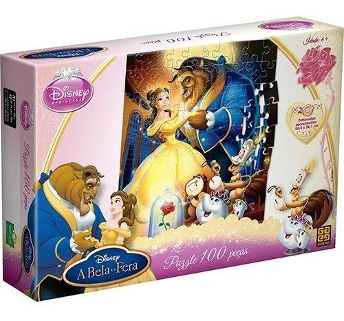 Quebra-cabeça Puzzle Grow 100 Peças Disney A Bela E A Fera