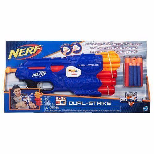 Novo Brinquedo Lançador Nerf Dual Strike Elite Hasbro B4620