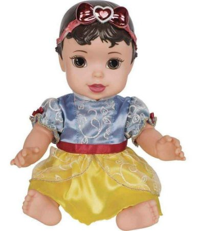 Linda Boneca Princesas Disney Branca De Neve Baby Vinil Mimo