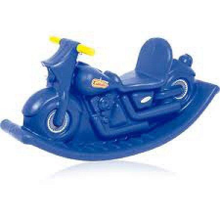 Novo Brinquedo Para Playground Gangorra Moto Balanço Azul