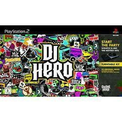 Kit Original Dj Hero Completo Do Ps2 Jogo Com A Pickup De Dj