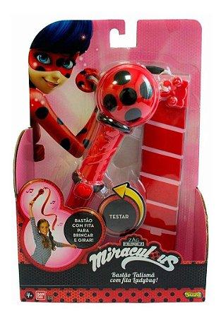 Brinquedo Miraculous Bastão Talismã Com Fita Ladybug Sunny