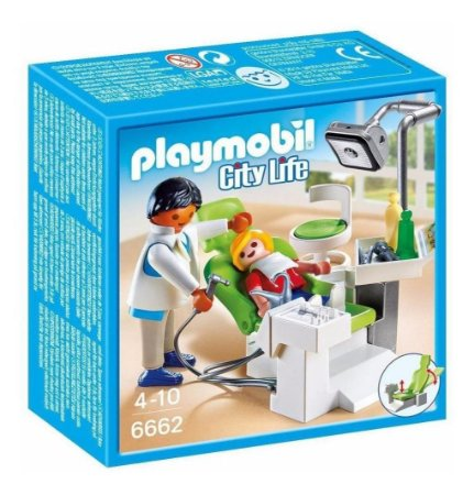 Brinquedo Playmobil City Life Dentista Com Paciente 6662