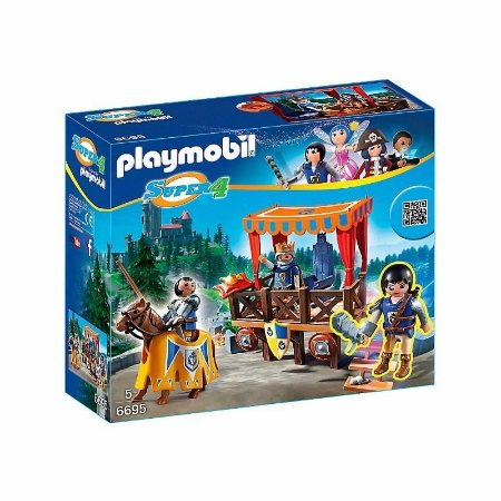 Playset Playmobil Série Super 4 Tribuna Real Com Alex 6695