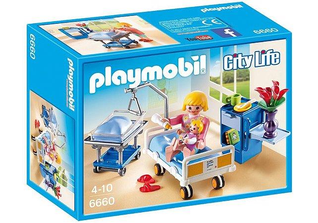 Brinquedo Playmobil City Life Quarto De Maternidade 6660