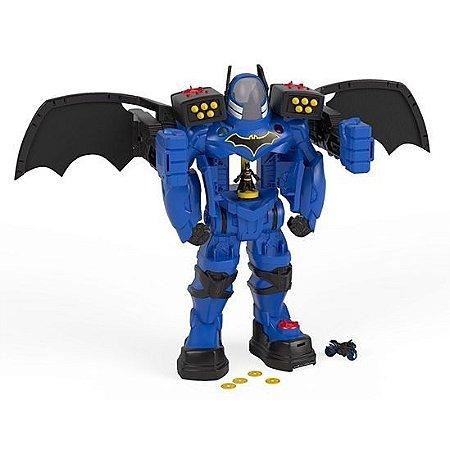 Brinquedo Boneco Batman Mega Battlebot Imaginext Fgf37
