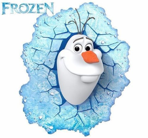 Luminária 3d Olaf Frozen 3d Deco Light Led