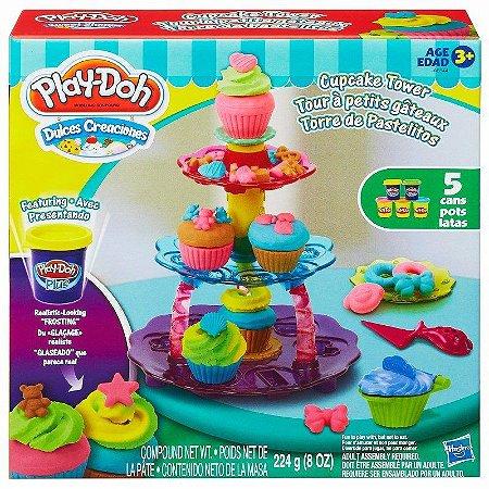 Play-doh Conjunto Massinha Torre Cupcakes Hasbro A5144