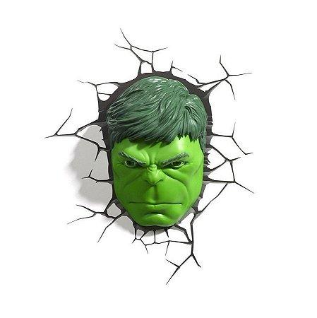 Nova Luminária De Parede Rosto Do Hulk 3d Light Fx