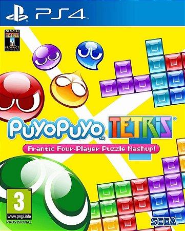 Jogo Mídia Física Puyo Puyo Tetris Original Para Ps4