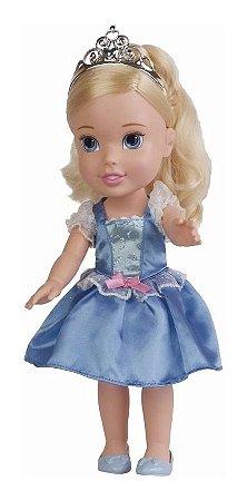 Brinquedo Boneca Princesas Cinderela Mimo 30 Cm