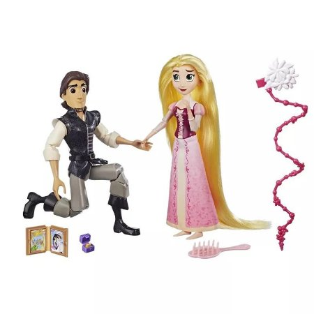 Brinquedo Boneca Disney Rapunzel E Eugene Hasbro C1750