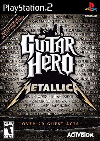 Jogo Mídia Física Guitar Hero Metallica Recondicionado Ps2