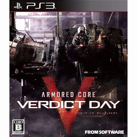 Jogo Novo Lacrado Armored Core Verdict Day Pra Playstation 3