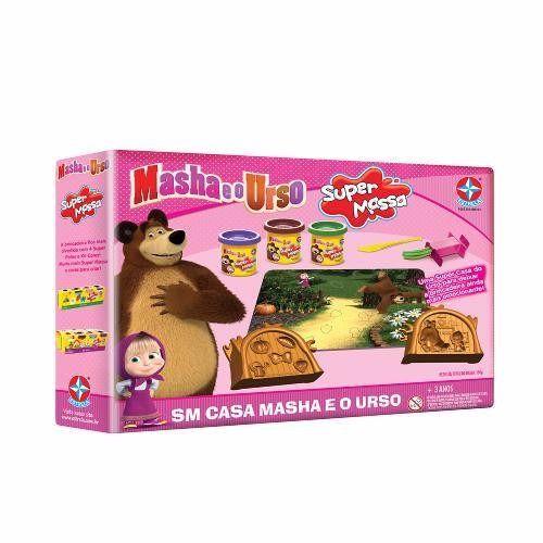 Brinquedo Super Massa Casa Masha E O Urso Original Estrela