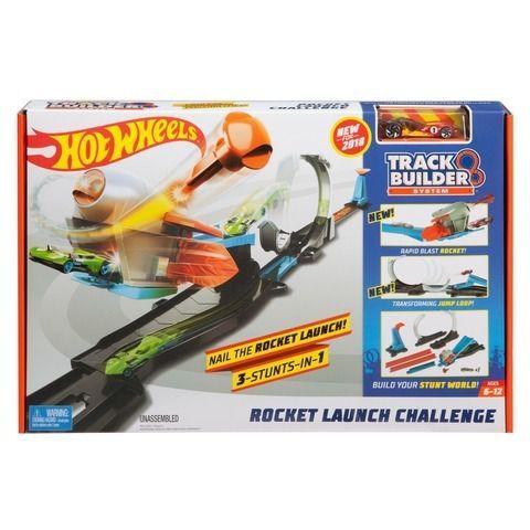 Brinquedo Pista Hot Wheels Desafio Lançamento Foguete Flx60