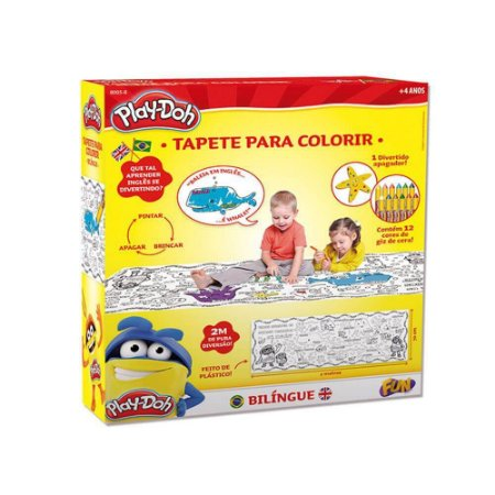 Brinquedo Play doh Tapete Bilíngue Com Apagador Para Colorir