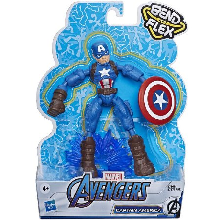 Boneco Marvel Vingadores Bend and Flex Capitao America E7377