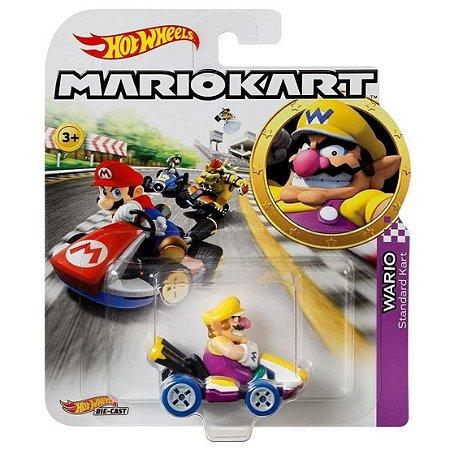 Hot Wheels Mario Kart Wario e Standart Kart da Mattel Gbg25