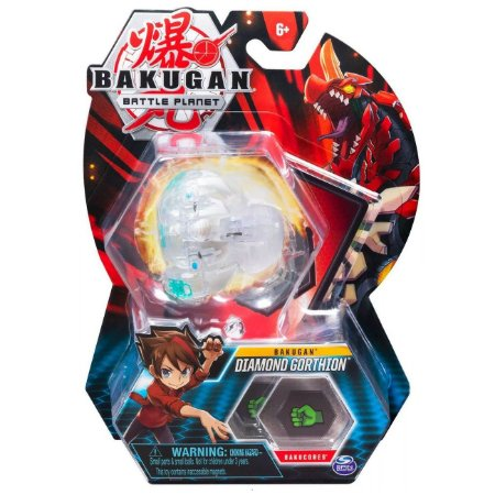 Figura e Card Bakugan Battle Planet Diamond Gorthion 2070