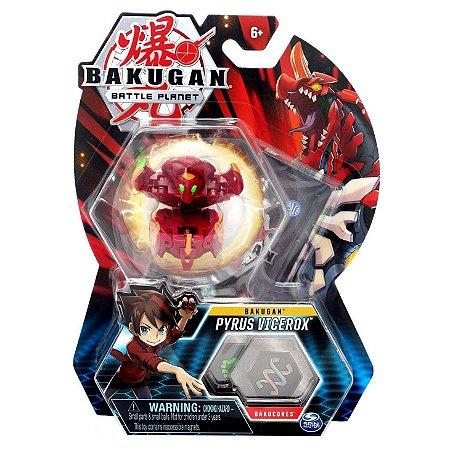 Figura e Card Bakugan Battle Planet Pyrus Vicerox Sunny 2070