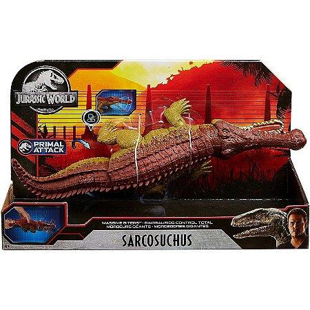 Figura Jurassic World Primal Attack Sarcosuchus Mattel Gjp32