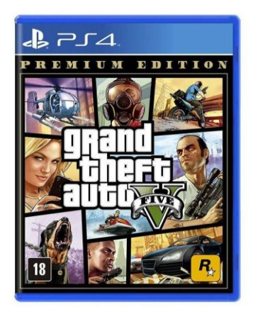 Gta 5 Grand Theft Auto V Premium Edition Ps4 Mídia Física