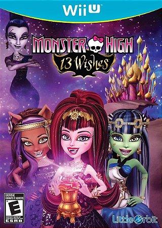 Jogo Novo Lacrado Monster High 13 Wishes Nintendo Wii U