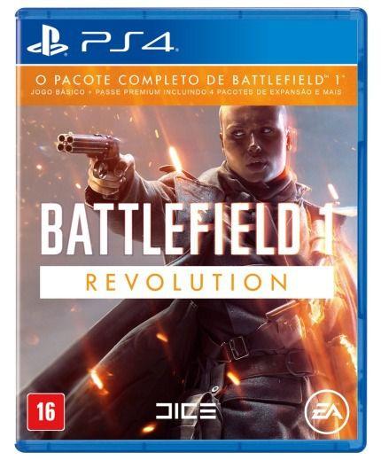 Jogo Mídia Física Battlefield 1 Revolution Original Ps4