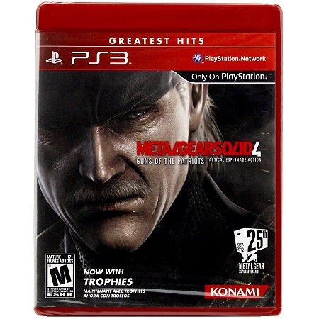 Jogo Novo Midia Fisica Metal Gear Solid 4 Original pra Ps3