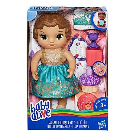 Boneca Baby Alive Festa Surpresa Morena - E0597 -  Hasbro