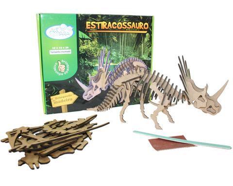 Quebra Cabeça 3d Coleção Jovem Arqueólogo Estiracossauro