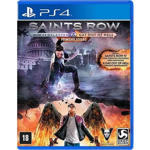 Jogo Novo Saints Row Iv Relected E Gat Out Of Hell Ps4