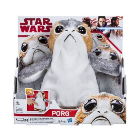 Boneco Pelúcia  Star Wars Porg Eletronico Hasbro C1942