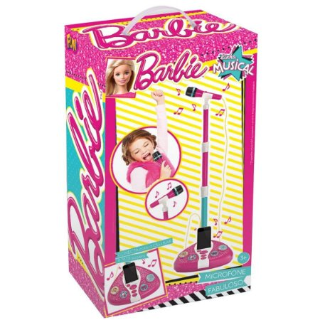 Brinquedo Barbie Microfone Fabuloso com MP3 da Fun F00044