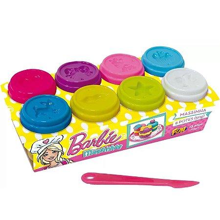 Massinha De Modelar Barbie Pack Com 8 Potes Sortidos F00127