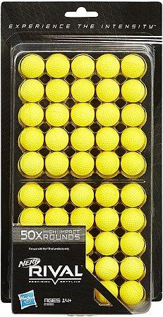 Lançadores Nerf Rival Refil 50 Projeteis Hasbro B3868