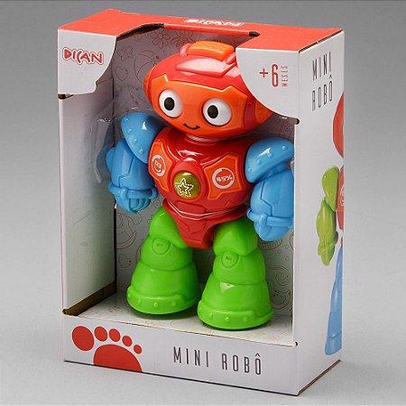 Dican - Mini Robô com Luz Som e Rodinhas - 6 meses - 2215