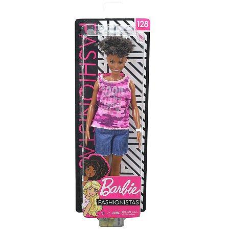 Boneca Barbie Fashionista Doll Look Modelo 128 Mattel Fbr37