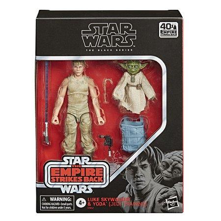Figura Star Wars The Black Series Deluxe Luke e Yoda E9642