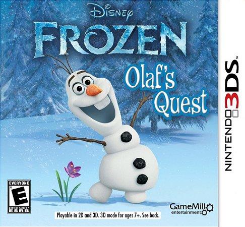 Jogo Novo Lacrado Frozen Olaf's Quest Para Nintendo 3ds