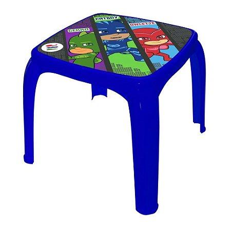 Mesa Infantil De Plástico Candide PJMasks Azul Nova 1729