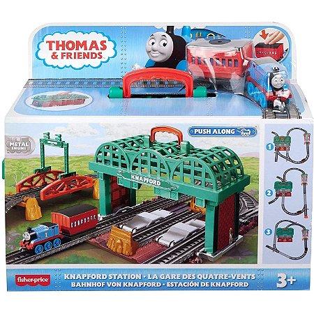 Pista e Veiculo Thomas e Seus Amigos Ferrovia Knapford Ghk74