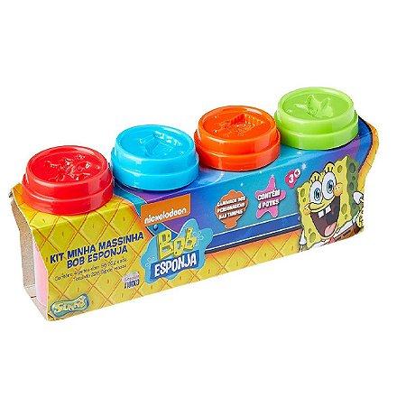 Kit De Massinha Do Bob Esponja Com 4 Potinhos Sunny 478